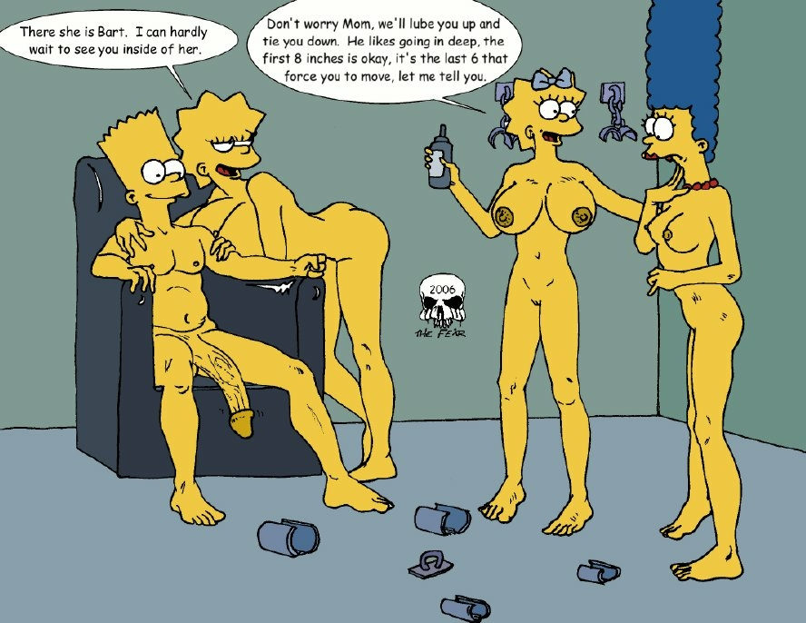 with naked marge bart simpson Mass effect andromeda