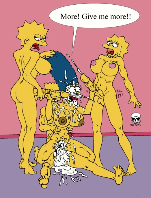 bart simpson naked marge with Animated cervical penetration. gif