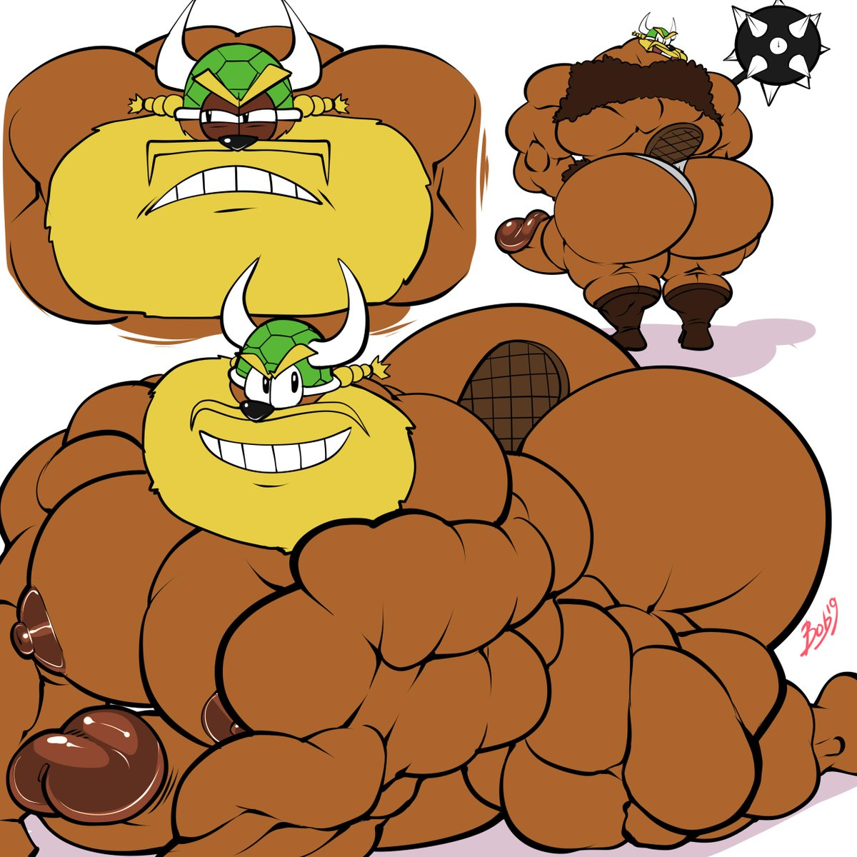 porn big cartoon dick gay This kong has a funny face and he has a coconut gun