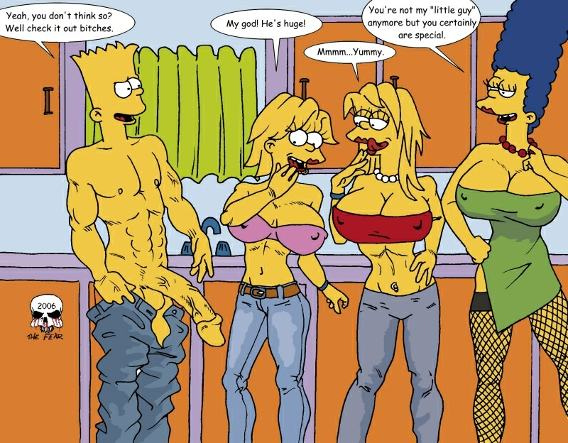 simpson with marge bart naked Mangle five nights at freddy