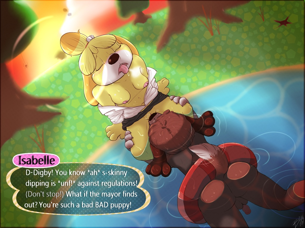 crossing isabelle animal and digby Moblin breath of the wild