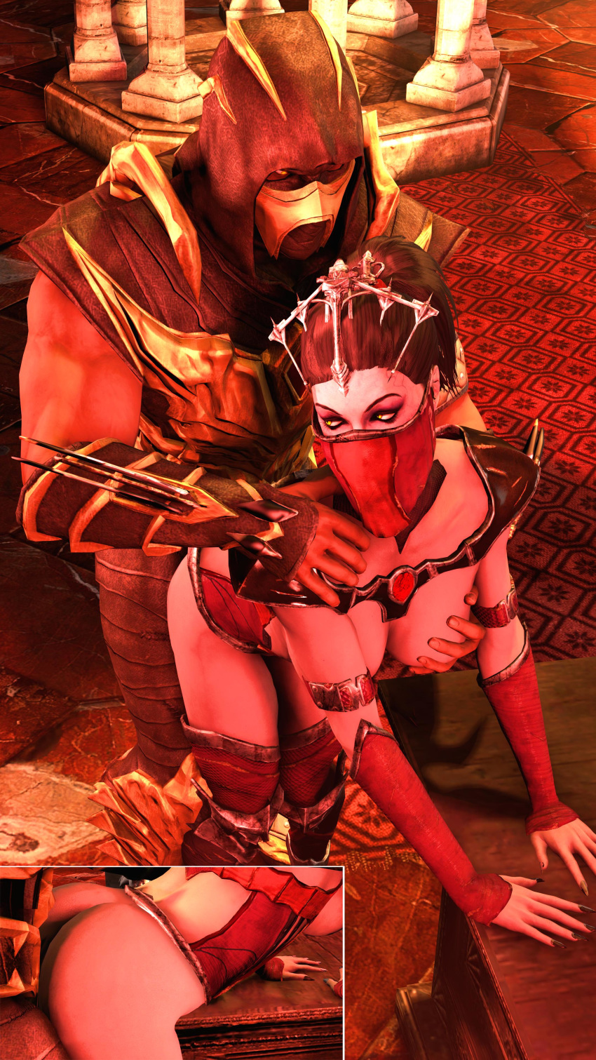 mortal and kitana kombat mileena King of fighters mai shiranui